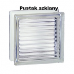 Pustak szklany 198 Clear Reeded E60 EI15 La Rochere, Francuski luksfer bezbarwny, glass block, Glasspol Maciej Załuski